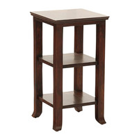 Elegant End Table With Shelves