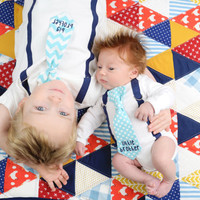 Big Brother Announcement Shirt. Big Brother Little Brother Set. Sibling Set. Pregnancy Announcement. Newborn boy. Tie and suspender.