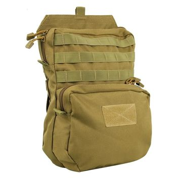 1000D Nylon Tactical Vest Molle Hydration Backpack 3L Outdoor Hunting Fishing Cycling Water Pouch Dump Drop Back Pack