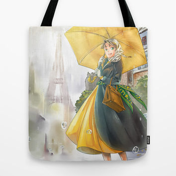bonjour paris! Tote Bag by Moonsia