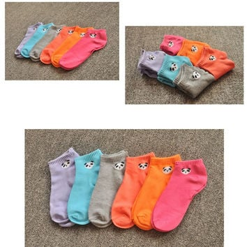 Women Socks Panda Pattern Cute Cartoon Candy Color Socks With Y3 SM6