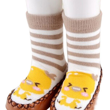 Antiskid Baby Autumn Winter Cartoon Bootie Baby Shoes Toddler Shoes D