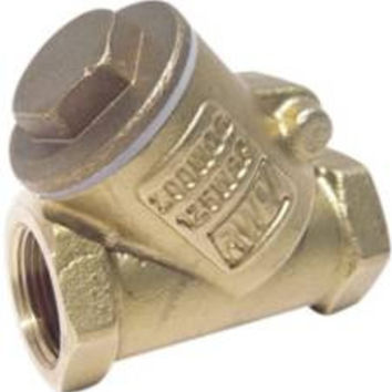 Rwv Brass Swing Check Valve Y Pattern With Threaded Ends, 1-1/4 In., Lead Free