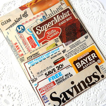Coupon Ephemera Pack. 22 Pieces. Paper Ephemera. Grocery Coupon. Shopping List. Junk Journal Paper. Vintage Kitchen. Scrapbook Supplies.