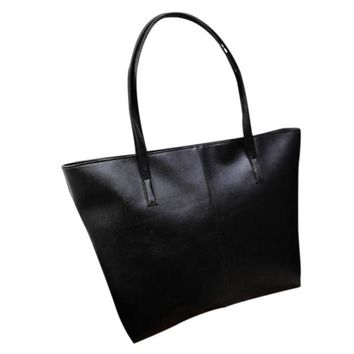 Large Shoulder Leather Tote Bag
