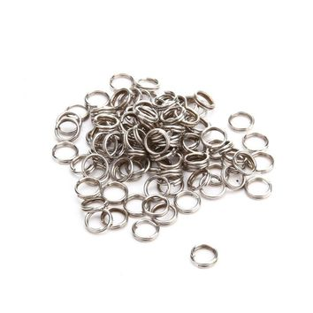 100pcs Fishing Split Rings Accessories Swivel Lure Connector Tackle Barrel