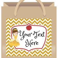 Belle Gift Bag Labels | Belle Party Favors | Free Customization