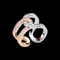 Rose and white gold Diamond Ring G34PZ200 - Piaget Luxury Jewelry Online