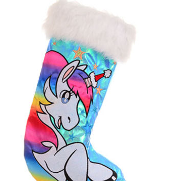 Sparkling Unicorn Christmas Stocking