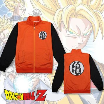 Anime Dragon Ball Z Master Roshi Kame Sennin Cosplay Costumes Son Goku Hoodie Daily Casual Jacket