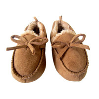Koala Kids Boys Khaki Moccasin Slipper