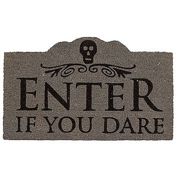 Enter If You Dare Doormat - Decorations - Spirithalloween.com