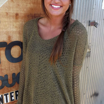 Olive Piko Knit | The Rage
