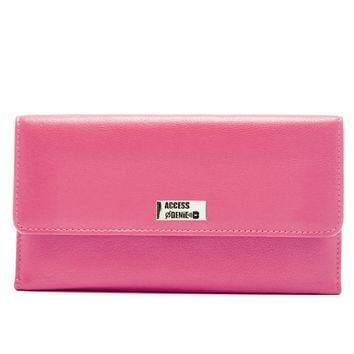 Genuine Leather Trifold Clutch Wallet