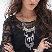 FOREVER 21 Embroidered Woven Top Black