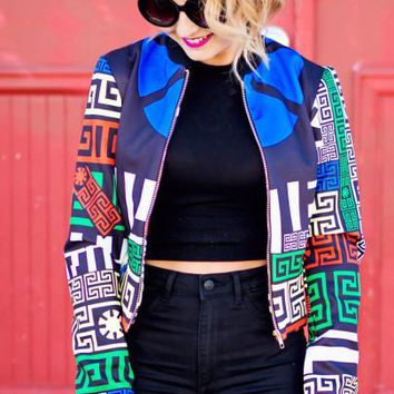 Aztec Tribal Colorful Fashion Retro Jacket
