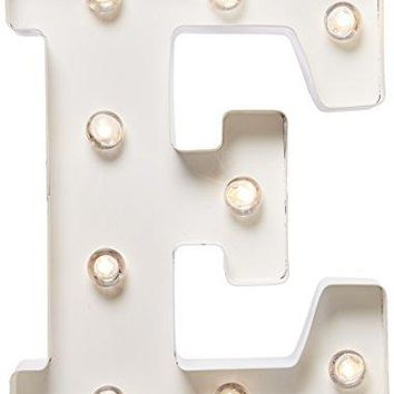 Darice Metal Letter E Marquee Light Up, White