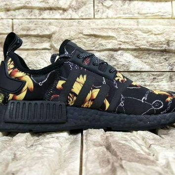 CREYGE2 Beauty Ticks Versace X Adidas Nmd Custom R_1 Ba7266 Boost Shoe