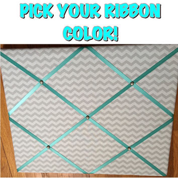 Custom Gray Chevron French Memo Board Chevron Memo Board Gray Memo Board