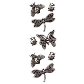 Bugs Metal Craft Embellishment Stickers