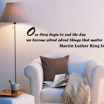 Wall Decal Quotes Famous Words of Wisdom Phrase Vinyl Sticker (ed1056) (22.5 in X 6 in)