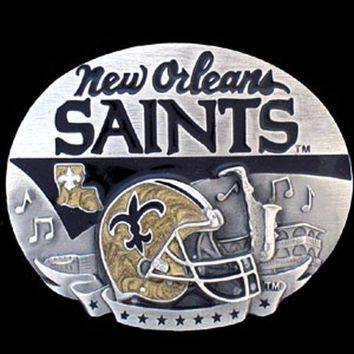New Orleans Saints NFL Enameled Belt Buckle