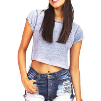 Burn Out Crop Top