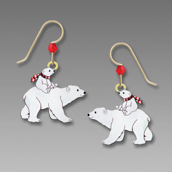 Sienna Sky Earrings - Polar Bear and Cub