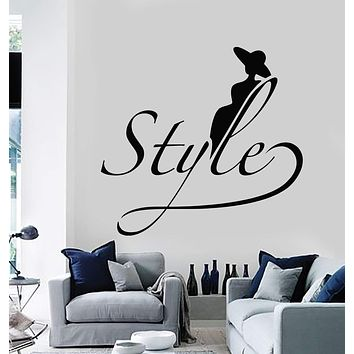 Vinyl Wall Decal Style Beauty Salon Hair Girl Room Woman Stickers Mural Unique Gift (090ig)