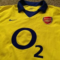 Sale!! Vintage Nike Arsenal FC Away 2003/2004 Soccer jersey AFC Football shirt gunners