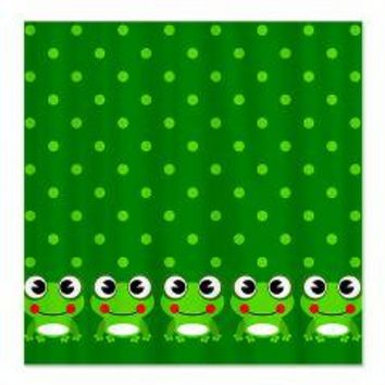 Cute Frogs and Polka Dots Shower Curtain> Shower Curtains> We Tees You