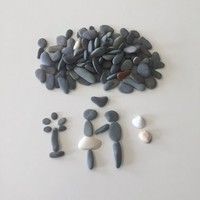 135 pc Craft Pebbles/ Beach Stones/ for Pebble Art/Flat Stone Supply/Sea Stone /Craft Stones / Pebbles-Shells for Art