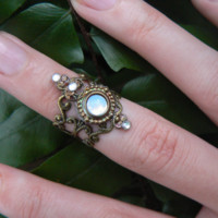 Victorian Moon Ring - Handmade Wiccan & Pagan Jewelry