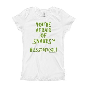 You're Afraid of Snakes? Funny Herpetology Herper Girl's Princess T-Shirt