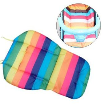 High Quanlity Colorful Stripes Anti Dirty Baby Safety Seats Hot Sell Baby Shopping Cart Cover Striped