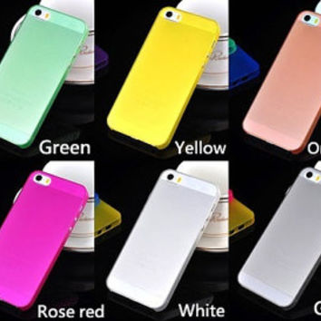 iPhone 5 5s 0.3mm slim, ultra thin colorful phone case