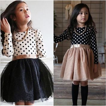 Fashion Baby Girl Frocks Casual School Wear Long Sleeves Autumn Dress for Children Clothes Kids Party Dresses Girls Costumes