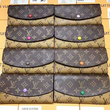 LV Women Fashion Leather Buckle Wallet Purse G-A-GHSY-1