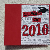 6x6 Class of 2016 Graduation Scrapbook Album
