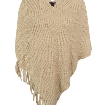 INC International Concepts Women's Fringe Poncho