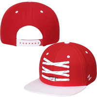 Detroit Red Wings Zephyr Skate Lacer Adjustable Snapback Hat – Red