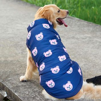 New Design Clothes For Big Dogs Cute Bear Large Animals Pets Jacket Down Coat Winter Autumn Warm For Labrador Golden Retriever