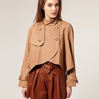 ASOS | ASOS Drapey Cropped Trench at ASOS