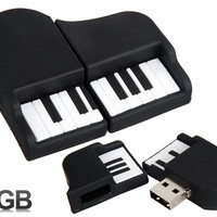 Piano Design 8GB USB Flash Drive (Black)
