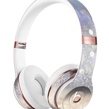 Light Blue and Tan Unfocused Orbs of Light Full-Body Skin Kit for the Beats by Dre Solo 3 Wireless Headphones