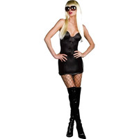 Dreamgirl Womens Pop A Razzi Gaga Halloween Party Dress Costume