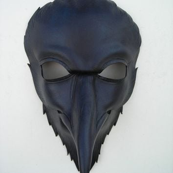 raven head mask by wingandtalon on Etsy