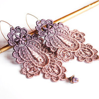 Plums Flavour -statement lace earrings