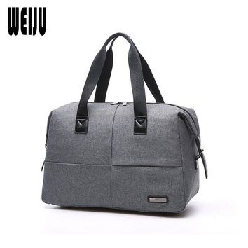 WEIJU Canvas Men Travel Bag 2017 New Business Casual Traveling Bag Large Capacity Travel Bags Hand Luggage Duffel Bags