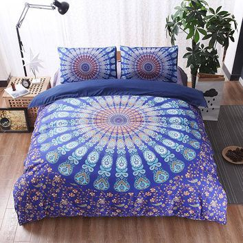 Soft Polyester Mandala Dream Catcher Bohemian 3D Print Bedding Set 3pcs Durable King Queen Size